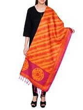 Orange Poly Silk Tie & Dye Dupatta - By