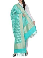 Green Silk Banarasi Dupatta - By