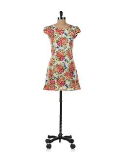 Floral Short Dress - Aamod