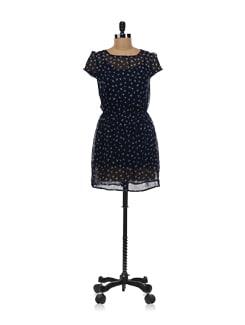Navy Blue Dress - Aamod