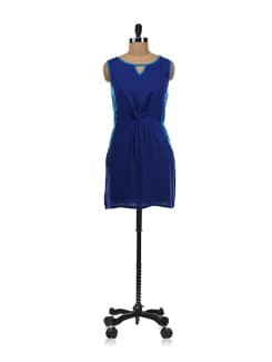 Two Toned Blue Dress - Aamod