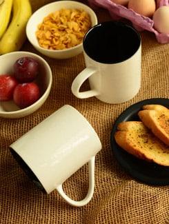Double Shade Coffee Mugs -set Of 2 - Habitation