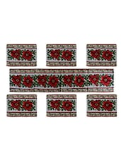 Tapestry Table Mats (Set Of 7) On Jacquard Fabric - By