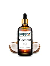 PRZ Coconut Extra Virgin Cold Pressed Carrier Oil (30ML) - Pure Natural For Aromatherapy Body Massage, Skin Care & Hair ReGrowth - By