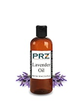 PRZ Lavender Essential Oil (50ML) - Pure Natural & Therapeutic Grade Oil For Aromatherapy Body Massage, Skin Care & Hair Care - By
