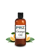 PRZ Orange Essential Oil (50ML) - Pure Natural & Therapeutic Grade Oil For Aromatherapy Body Massage, Skin Care & Hair Care - By