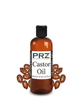 PRZ Castor Carrier Oil (50ML) - Pure Natural For Aromatherapy Body Massage, Skin & Hair ReGrowth - By