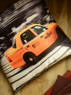 NYC Taxi Print Cushion Cover - Yolo By Spread