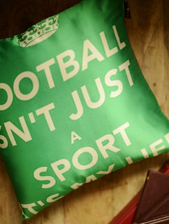 Football Quote Cushion Cover - Yolo By Spread