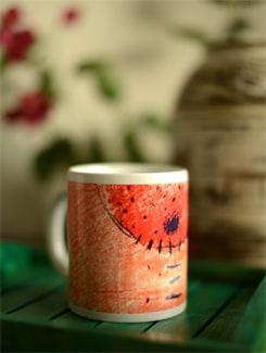 Coffee Mug With Abstract Tribal Art By Umesh Prasad - Artfairie