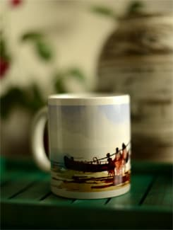 Coffee Mug With Boats I By Swapan Das - Artfairie