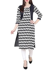 Monochrome Poly Cotton Straight Kurta - By