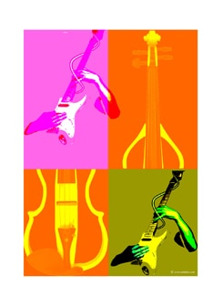 Digital Art Of Colours Of Music Poster - Artfairie