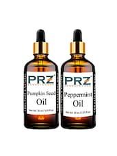 PRZ Combo Of Pumpkin Seed Carrier Oil & Peppermint Oil (Each 30ml ) - By