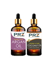 PRZ Combo Of Moroccan Argan Oil & Extra Virgin Coconut Oil For Hair Growth, Skin Care (Each 15ML ) - By