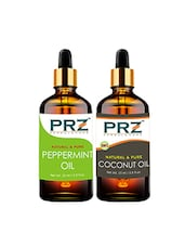 PRZ Combo Of Peppermint Oil & Extra Virgin Coconut Oil For Hair Growth, Skin Care (Each 15ML ) - By