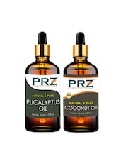 PRZ Combo Of Eucalyptus Oil & Extra Virgin Coconut Oil For Hair Growth, Skin Care (Each 15ML ) - By