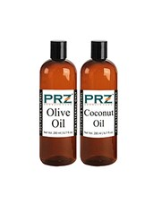 PRZ Combo Of Extra Virgin Olive Oil & Extra Virgin Coconut Oil (Each 200ml) - By