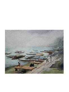 Benaras Ghat (Archival Quality Print) - Artfairie 14868