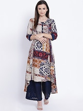 Multi Rayon Highlow Kurta - By
