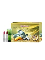 Triple Action Facial Kit (250+10)g With Neem &Tulsi Face Wash (65 Ml) Free - By