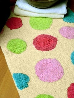Multicolor Bath Mat - Laurel Home