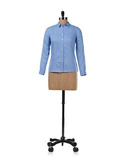 Refreshing Blue Cotton Shirt - Chemistry