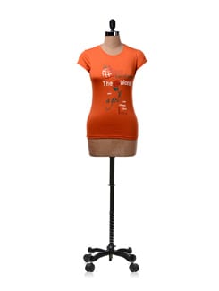 Orange 'An Idea Can Change The World' T-shirt - OFFBEAT
