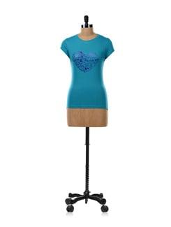 Blue 'I Love Parties' T-shirt - OFFBEAT