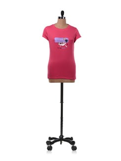 Pink 'Laziness' Graphic T-shirt - OFFBEAT