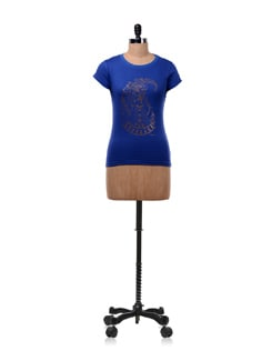 Blue 'Indian Beauty' T-shirt - OFFBEAT