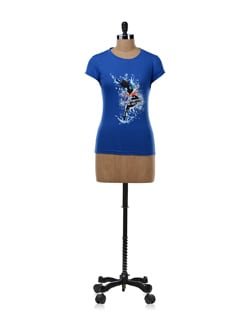 Blue 'I'm Cool, I'm Hot' Graphic T-shirt - OFFBEAT