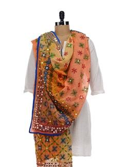 Multi Colour Phulkari Dupatta - Vayana