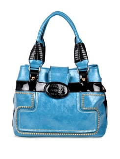 Blue And Black Handbag - Carlton London