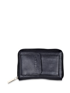 Black Leather Wallet - Carlton London