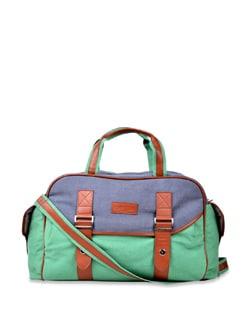Dual Toned Handbag- Green - Carlton London