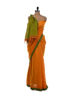 Double shade cotton saree - Desiweaves