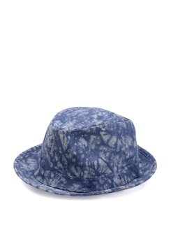 Blue Printed Summer Hat - Addons