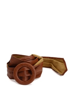 Brown Pleated Belt - Addons