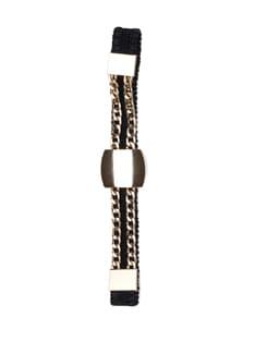 Black And Gold Dress Belt - Addons