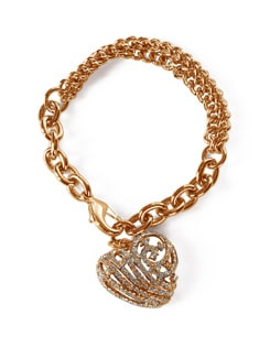 Embellished Gold Chain Bracelet - Addons