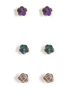 Gold Rose Studs - Set Of 3 - Addons