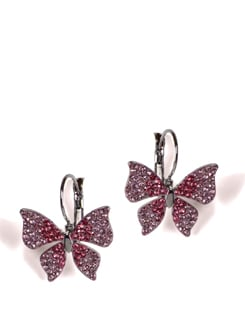 Pink Diamond Butterfly Earrings - Addons