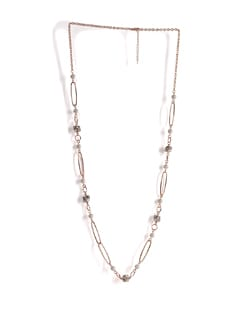 Gold Chain Necklace With Pearls - Addons