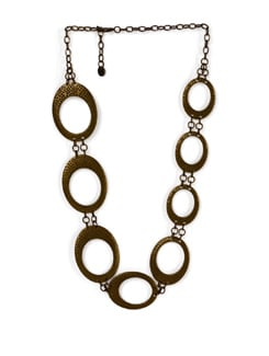 Gold Circular Chain Necklace - Addons