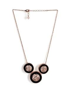 Golden Tri-pendant Necklace - Addons