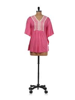 Pink Crochet Design Top - AND