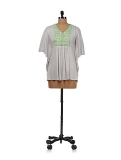 Grey Kaftan Style Top - AND