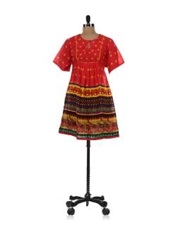 Carnival Flared Dress - Global Desi