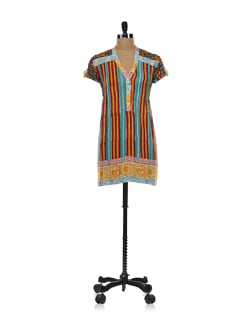 Striped Short Kurta - Global Desi